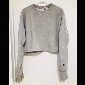 Champion Gray Croptop Sweater - Small